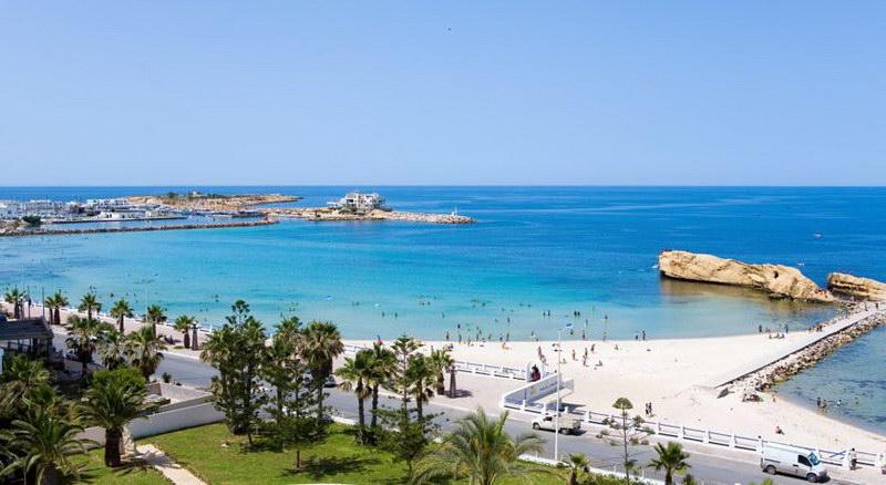 Vue mer de la plage de Monastir