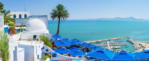 Sidi Bou Said, Séjour en Tunisie